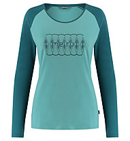 Meru Katrineholm l/s shirt women - maglia a manica lunga - donna, Green/Dark Green
