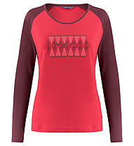 Meru Katrineholm l/s shirt women - maglia a manica lunga - donna, Red/Dark Red