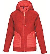 Meru Kaunas - giacca con cappuccio trekking - donna, Red