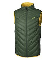Meru Kelowna gilet piuma, Black Forest/Chinese Yellow