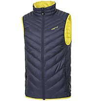 Meru Kelowna gilet piuma, Dark Blue/Yellow