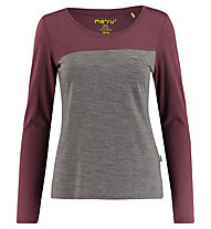 Meru Kopervik l/s shirt women - maglia a manica lunga - donna, Brown/Purple