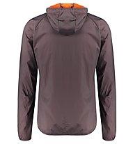 Meru Larvik Windbreaker - giacca con cappuccio - uomo, Grey/Orange