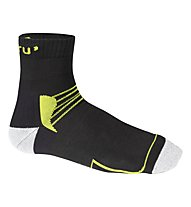 Meru Leh Trekkingsocken, Black/Green