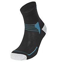 Meru Leh Trekkingsocken, Black/Blue