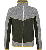 Meru Lerum knitted fleece jkt men - giacca in pile - uomo, Green
