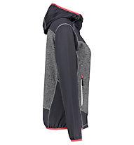 Meru Lyngdal stretch fleece - felpa in pile - donna, Grey