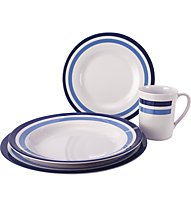 Meru Melamin Tableware 16pcs - set stoviglie, Blue