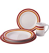 Meru Melamin Tableware 16pcs - set stoviglie, Red