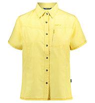 Meru Melissia - camicia a manica corta - donna, Yellow
