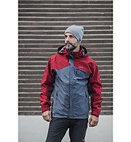 Meru Lund - giacca softshell trekking - uomo, Blue/Red