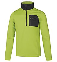 Meru Men's Stretch Fleece 2 Herren Fleecepullover mit 1/4 Reißverschluss, Green