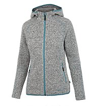 Meru Mjösa - Fleecejacke mit Kapuze - Damen, Grey/Light Blue