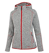 Meru Mjösa - Fleecejacke mit Kapuze - Damen, Grey/Light Red
