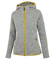 Meru Mjösa - Fleecejacke mit Kapuze - Damen, Grey/Yellow