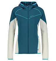 Meru Mysen W Stretchfleece Waffle - Fleecejacke - Damen, Light Grey/Blue