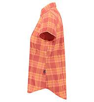 Meru Thiva - Kurzarmbluse Wandern - Damen, Orange