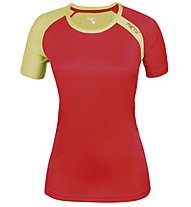 Meru New Speed Techno T-Shirt Damen, Coral/Lemon