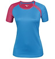 Meru New Speed Techno T-Shirt trekking Donna, Royal Blue/Raspberry