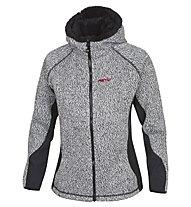 Meru New Wool Look Woman Jacket Giacca con cappuccio donna, Grey Melange