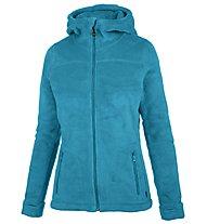Meru Nunavut - giacca in pile con cappuccio - donna, Light Blue