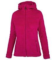 Meru Nunavut - giacca in pile con cappuccio - donna, Pink