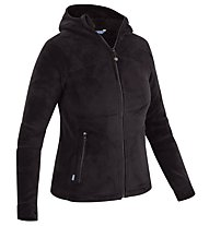 Meru Nunavut - giacca in pile con cappuccio - donna, Black
