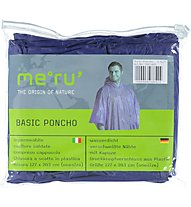 Meru Poncho Basic - Regenponcho, Dark Blue