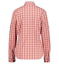 Meru Sauda W Functional Roll-Up - Langarmhemd Wandern - Damen, Rose/White