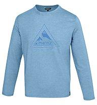 Meru Skövde Herren T-Shirt Langarm, Blue