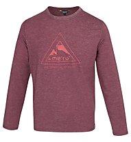 Meru Skövde Herren T-Shirt Langarm, Dark Red
