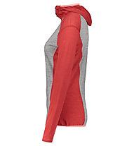 Meru Sortland L/S - Kapuzenpullover - Damen, Red/Grey
