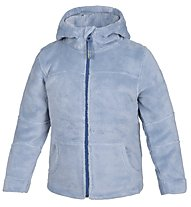 Meru Teddy Paddington Kinder Fleecejacke mit Kapuze, Ashley Blue