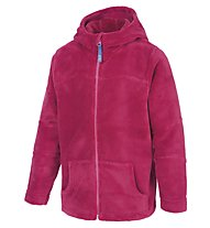 Meru Teddy Paddington Kinder Fleecejacke mit Kapuze, Red Deep