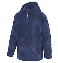Meru Teddy Paddington Kinder Fleecejacke mit Kapuze, Patriot Blue