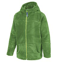 Meru Teddy Paddington Kinder Fleecejacke mit Kapuze, Green Treetop