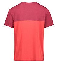 Meru Trikala Jersey - T-Shirt escursionismo - uomo, Dark Red/Red