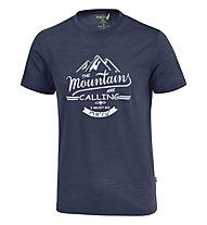Meru Tumba Männer T-Shirt kurzarm, Blue