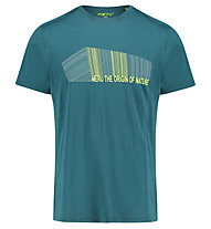 Meru Tumba s/s shirt men - t-shirt trekking - uomo, Dark Green