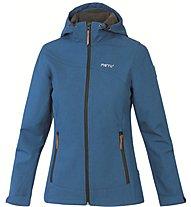 Meru Vantaa Damen Trekkingjacke mit Kapuze, Blue