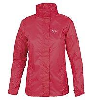 Meru Women Rain Jacket Damen Regenjacke mit Kapuze, Coral