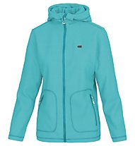 Meru Womens 3D - Fleecejacke mit Kapuze Wandern - Damen, Light Blue