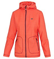 Meru Womens 3D - Fleecejacke mit Kapuze Wandern - Damen, Orange
