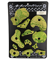 Metolius Klettergriffe Bouldering Set 12 Pack, Green/Yellow