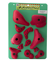 Metolius All American Bouldering Set - Klettergriffe-Set, Red