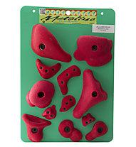 Metolius All American Bouldering Set - prese per arrampicata, Red