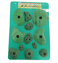Metolius PU Solution Bouldering Set 12 - prese per bouldering, Green