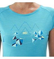 Millet Blanca Peak Wool Ts Damen Wander- und Bergshirt kurzärmelig, Blue