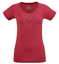 Millet Density TS SS W - T-shirt - Damen, Red