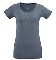 Millet Density TS SS W - T-shirt - Damen, Blue